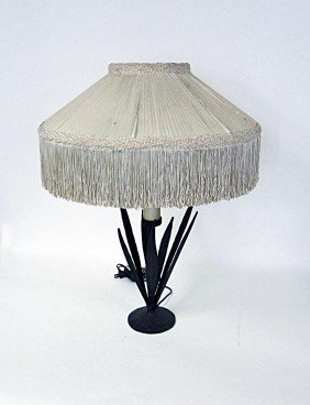 Modern Sculptural Steel Table Lamp