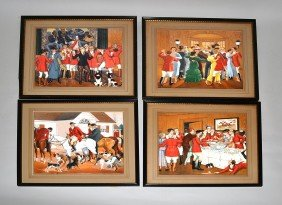 Euphuime Mallison, Set Of Four Watercolors