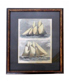 Framed Print Yachts