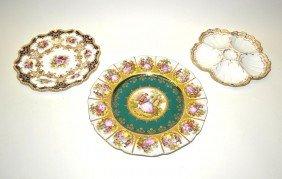 Limoge, Worcester, Bavaria 3 Plates