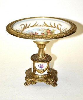 French Gilt Brass Tazza