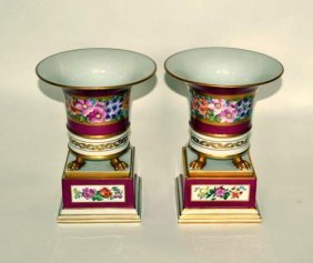 Pair Of Herend Porcelain Cachepots