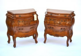 Pair Of French Provencial Style End Tables