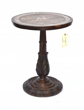 Anglo-Indian Rosewood Pedestal Table