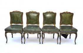 Set Of Four Decorated Chairs