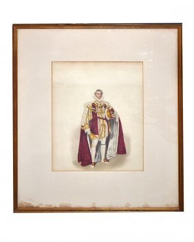 Framed Print Of A King