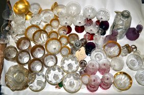 Assorted Glass & Crystal