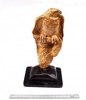 G. Karty Carved Marble Sculpture - Eagle