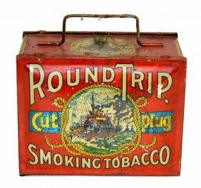 Round Trip Cut Plug Tobacco Tin