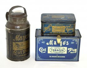 Three Mayo's Tobacco Tins
