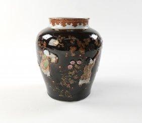 Antique Japanese Kutani Porcelain Jar