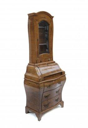 Antique Olivewood Secretary Bookcase
