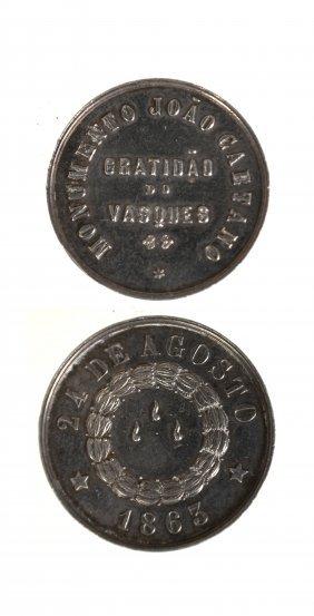 Brazil 1863 João Caetano Monument Medal