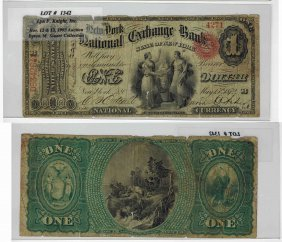 U.s. 1865 $1 National Bank Note