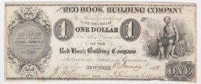 Red Hook Bldg Co 1838 $1 Obsolete Note