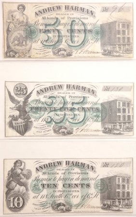 Andrew Harman 1862 Adv. Scrip Notes