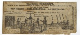 Abrams Preaching 1837 10¢ Satirical Note
