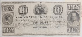 Inc District N. Liberties 1837 10¢ Note