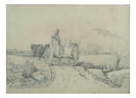 W. Smith, Drawing - Western Scene