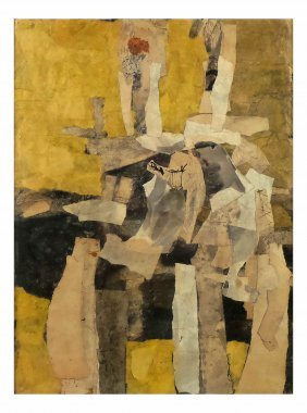 """S. M. Adler, M.m. Collage - """"two Figures"""""""
