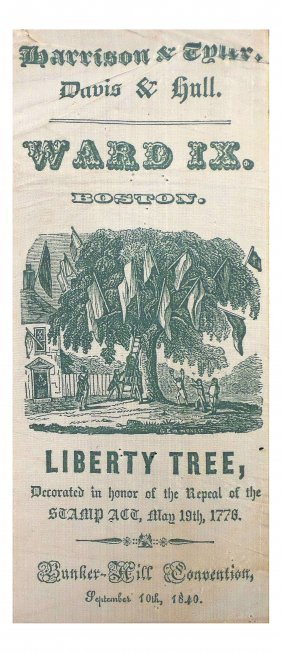 Wm. H. Harrison - Liberty Tree Ribbon
