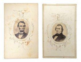 Lincoln And Johnson Portrait Cdv.s