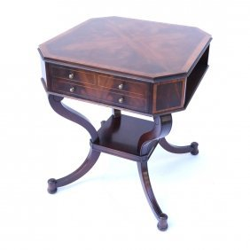 Regency Style Octagonal Table By Weiman