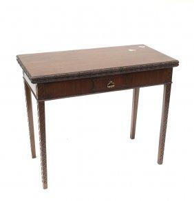 English Mahogany Game Table