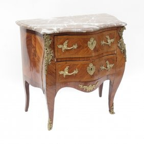 Louis Xv-style Gilt And Marble Commode