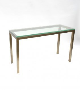 Brass And Glass Console