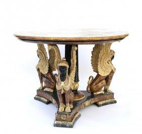 Egyptian Revival Center Table