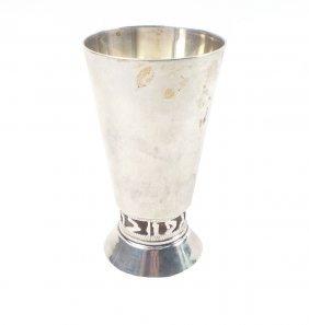 Mexican Judaic Silver Kiddush Cup