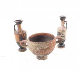 Three Classical-greco Terracotta Pieces