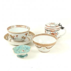5 Chinese Export Porcelain Items
