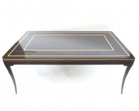 Modern Lacquered & Inlaid Table