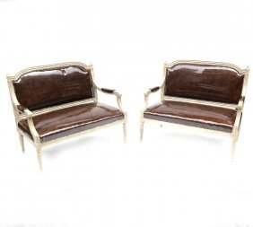 Pair Louis Xvi-style Settees