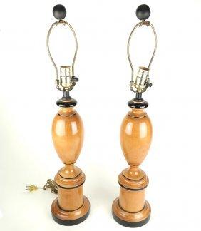 Pair Of Biedermeier-style Lamps