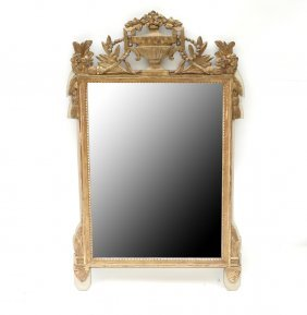 Regence Style Gilt Wood Carved Mirror