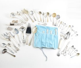 Mixed Set Of Silver And Silver Plate Flatware