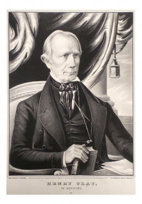 Henry Clay - 1848 Portrait By Nathaniel Currier