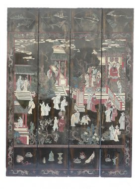 Four-fold Japanese Screen