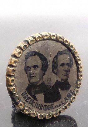 Breckinridge & Lane -1860 Ferrotype Jugate Pin