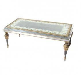 French Mirrored Cocktail Table