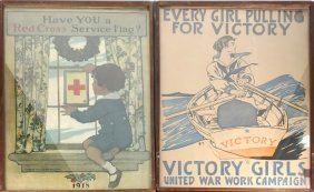 Two War Posters: Victory And Red Cross
