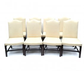 Eight George Smit Dining Chairs