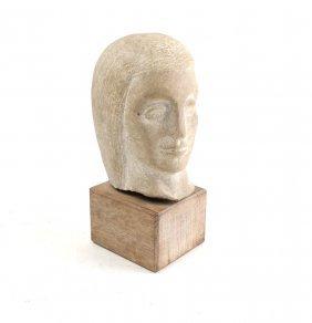 Stone Head Sculpture