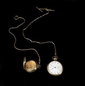 Two Gold-filled Pocket Watches