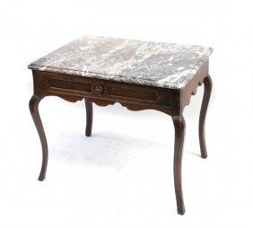 Marble Top Provincial Table