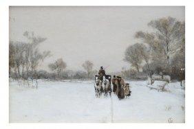 European 19th Century Winter Scene