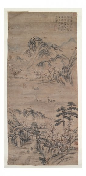 Chinese Scroll Painting On Rice Paper
